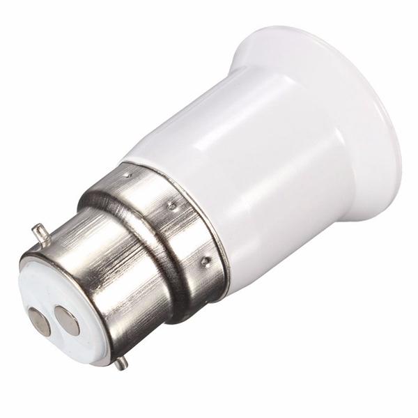 LED Converter Light Bulb Lamp Adapter B22 to E27 Base