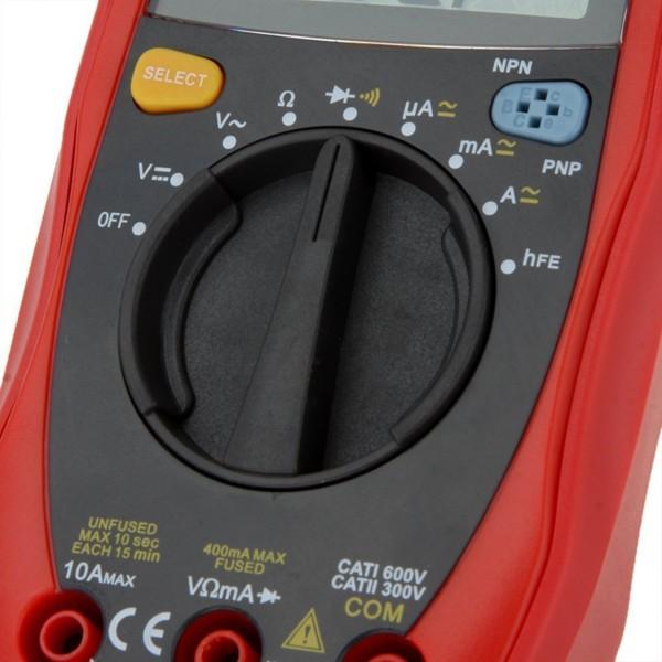 UNI-T UT33A Palm Size Digital Mini Auto Range Multimeter Diode Transistor AC DC Current Voltage Test