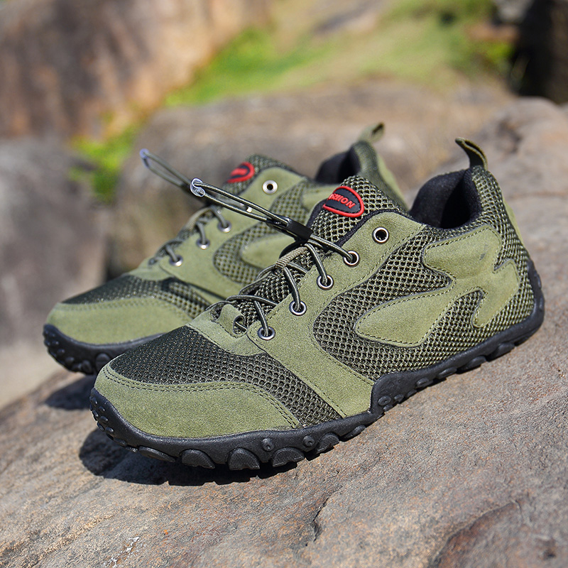 Men Outdoor Hiking Mesh Breathable Sports Shoes