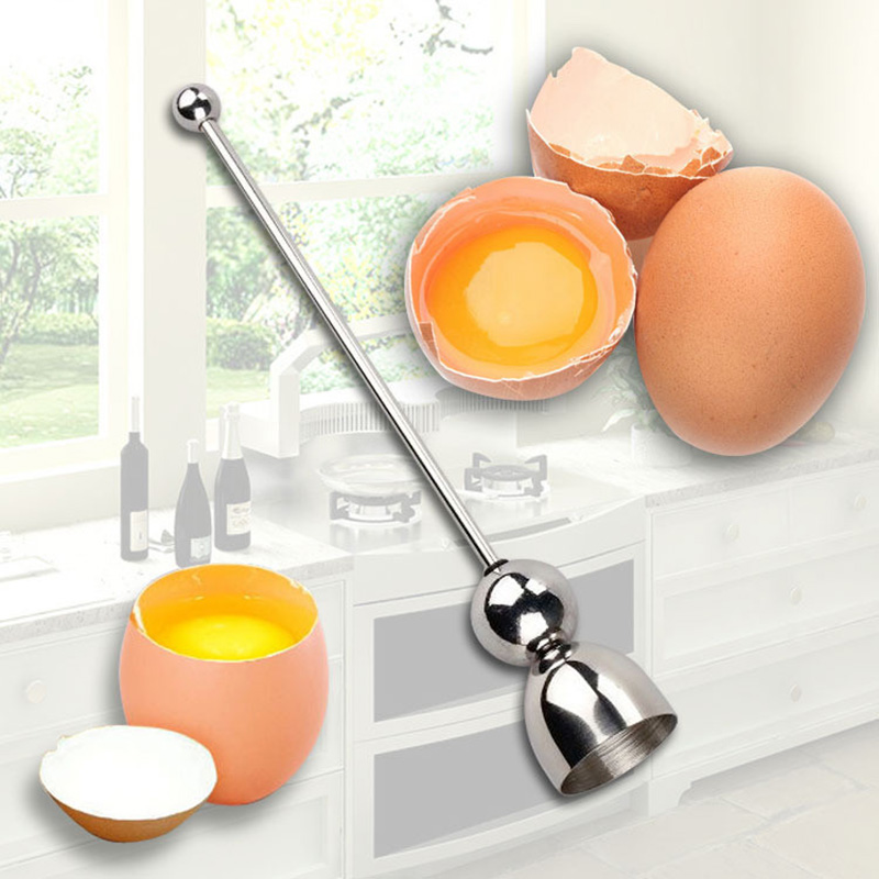 KCASA KC-ET047 Stainless Steel Egg Shell Opener Topper Cutter Cracker Knocker Kitchen Cooking Tools