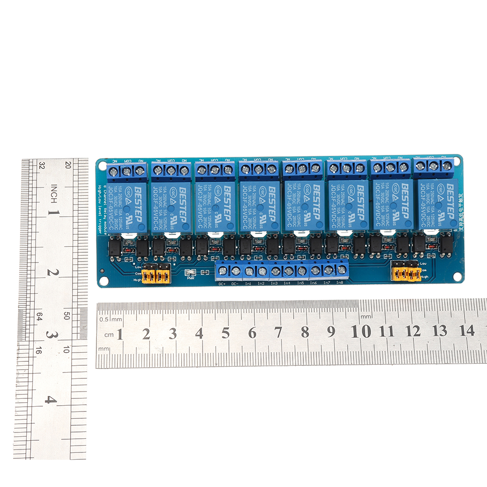 BESTEP 8 Channel 5V Relay Module High And Low Level Trigger For Arduino