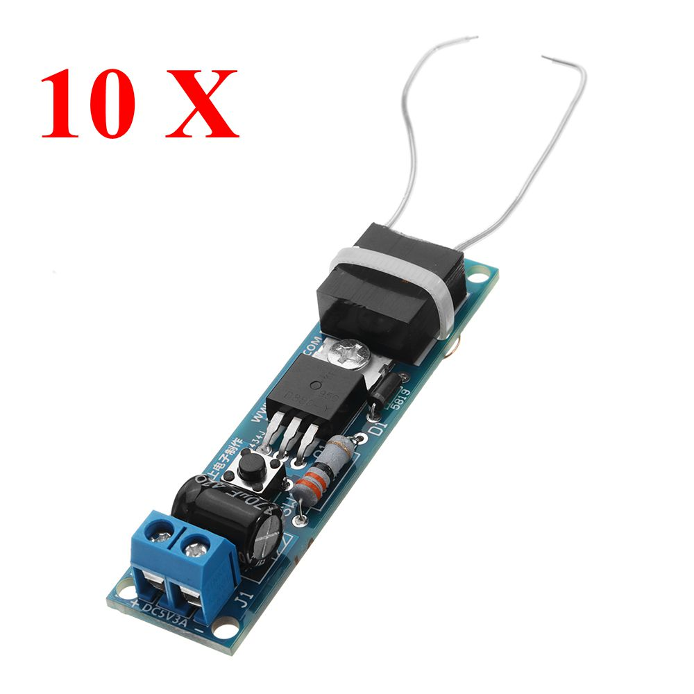 10Pcs DC3-5V 3A Inverter High Pressure Generator Electronic Lighter Module Arc Cigarette Lighter Igniter