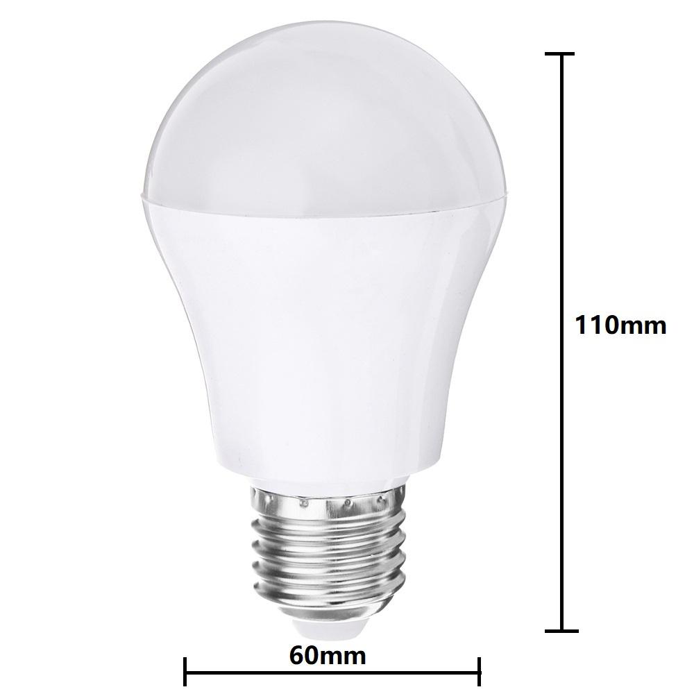 E27 4W 2835 SMD White Intelligent Voice Light Control LED Bulb Lamp for House Hallway AC220V