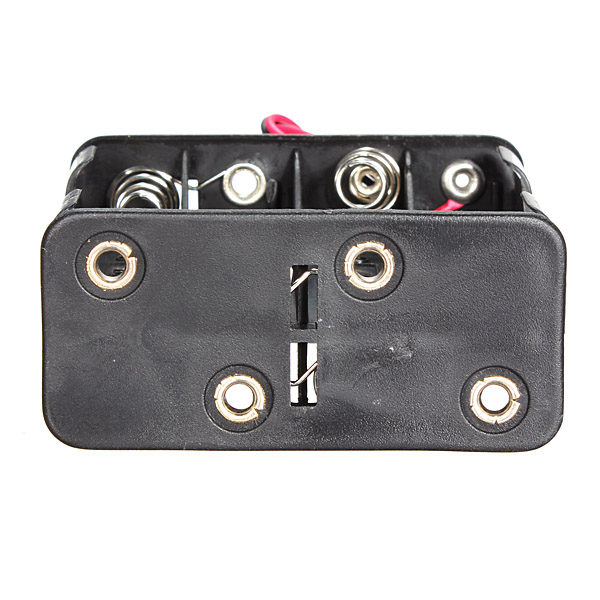 12V 8 x AA Battery Clip Slot Holder Stack Box Case 6 Inch Leads Wire