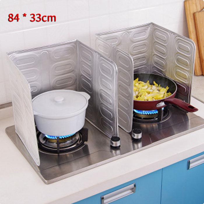 Aluminum Foil Oil Block Oil Barrier Stove Cooking Heat Insulation Anti-Splashing Oil Baffle Kitchen Utensils Supplies