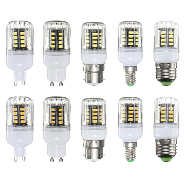 G9/E14/E27/B22/GU10 4W 30 SMD 5733 LED Cover Corn Light Lamp LED Bulb AC 220V