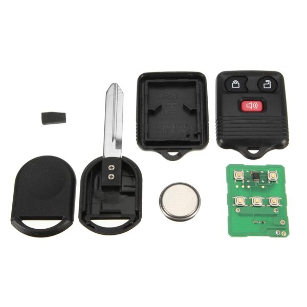 Car Keyless Entry Remote Fob Uncut Ignition Transponder Chip Key Black for Ford