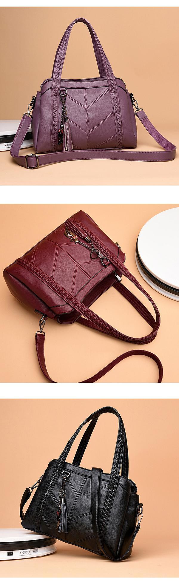 Women Elegant Soft PU Handbag Shoulder Bags Crossbody Bags