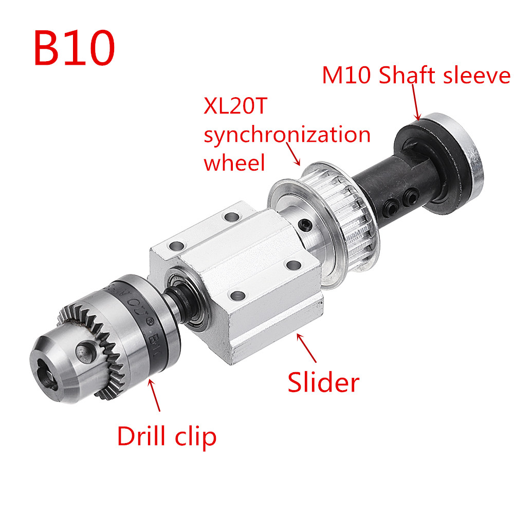 Machifit No Power Spindle Assembly Small Lathe Accessories Trimming Belt JTO/B10/B12/B16 Drill Chuck Set 39