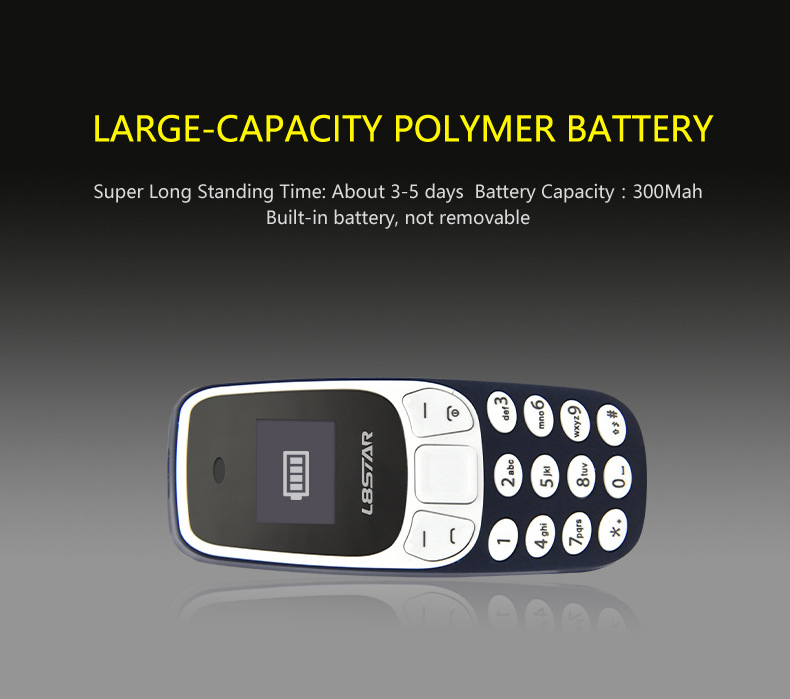 L8Star BM10 0.66'' OLED 350mAh Wireless bluetooth Dialer Dual SIM Dual Standby Mini Card Phone
