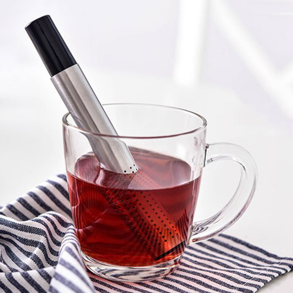 Creative Stainless Steel Tea Filter Tea Strainer Stick Tea Infuser Portable Tea Coffee Teapot Filter