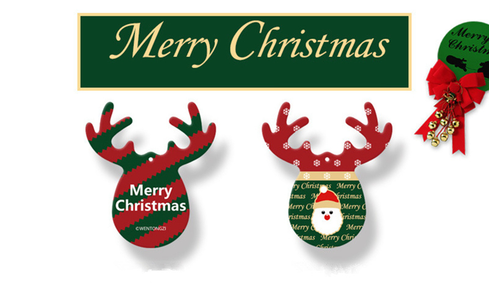Antlers Shape Car Christmas Pendant Perfume Card Air Freshener Hanging Papers Fragrance Decoration