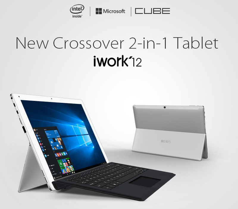 ALLDOCUBE Cube iWork12 Intel Z8300 Quad Core 12.2 Inch Dual Boot Tablet With Keyboard