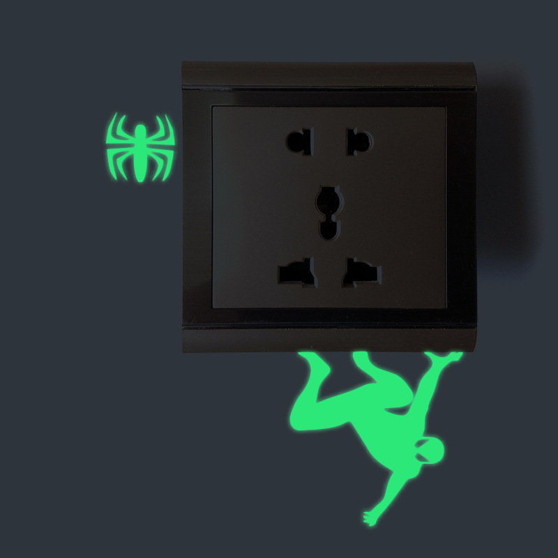 Miico Creative Movie Role Superhero Luminous PVC Removable Home Bathroom Decorative Door Switch Decor Sticker