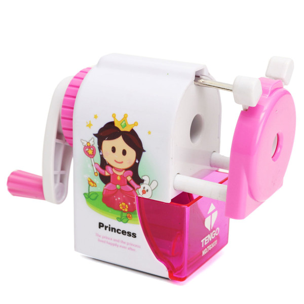 Cartoon Pencil Sharpener Machine Manumotive Print Rotary Handle Desktop
