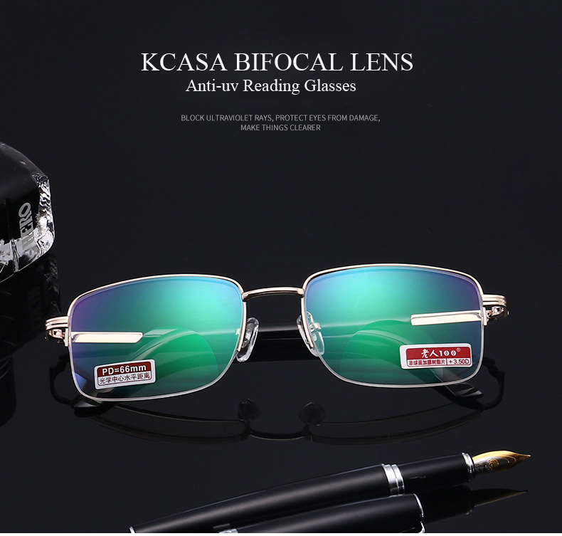 KCASA Bifocal An-uv Reading Glasses