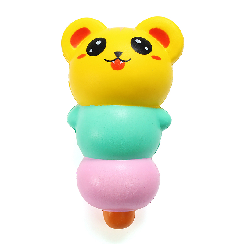LeiLei Squishy 15cm Pierced Haw Berries Candy Stick Bear Pig Slow Rising With Packaging Gift