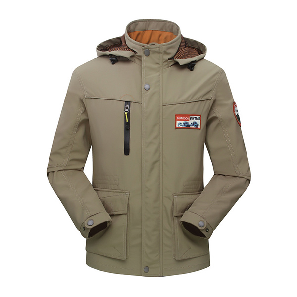 Mens Outdoor Military Waterproof Jackets Autumn Winter Loose Casual Hooded Coat