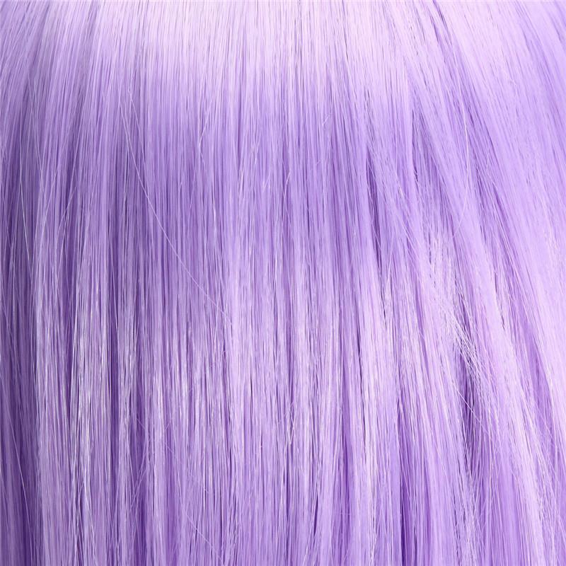 Light Purple Cosplay Harajuku Long Wavy Wig Women Anime Curly Wigs 80cm