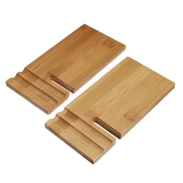 Universal Bamboo Mobile Bracket Stand For Smartphone Tablet