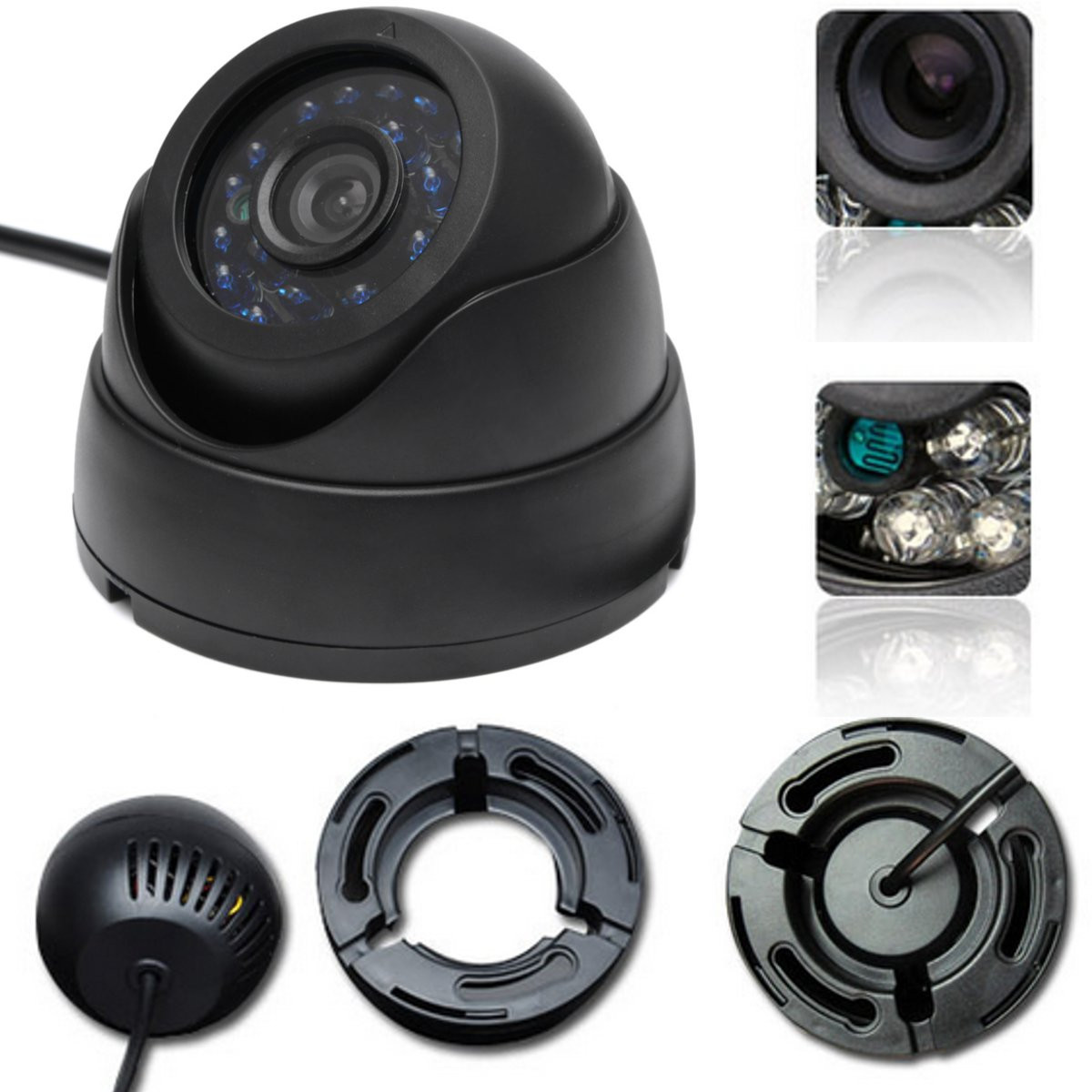 1/3inch CCD HD IP IR Camera Day Night Vision Dome Security Indoor Network Camera Onvif