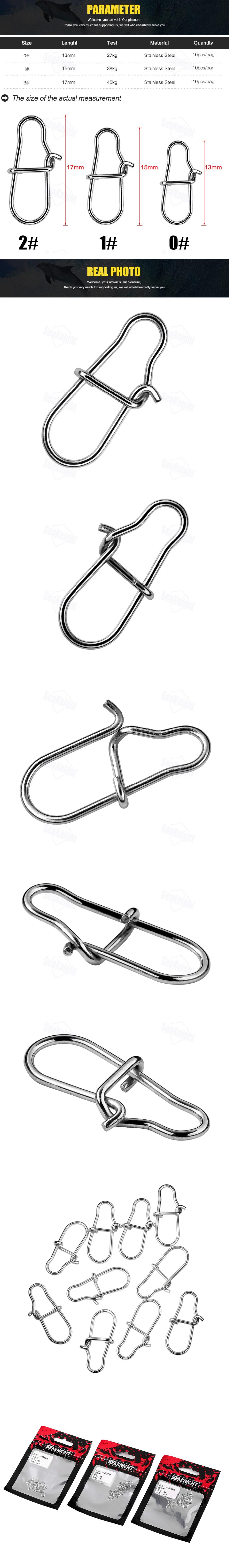 SeaKnight 10bag/100pcs 0# 1# 2# Stainless Steel Fishing Swivels Connectors Rolling Swivels Snaps