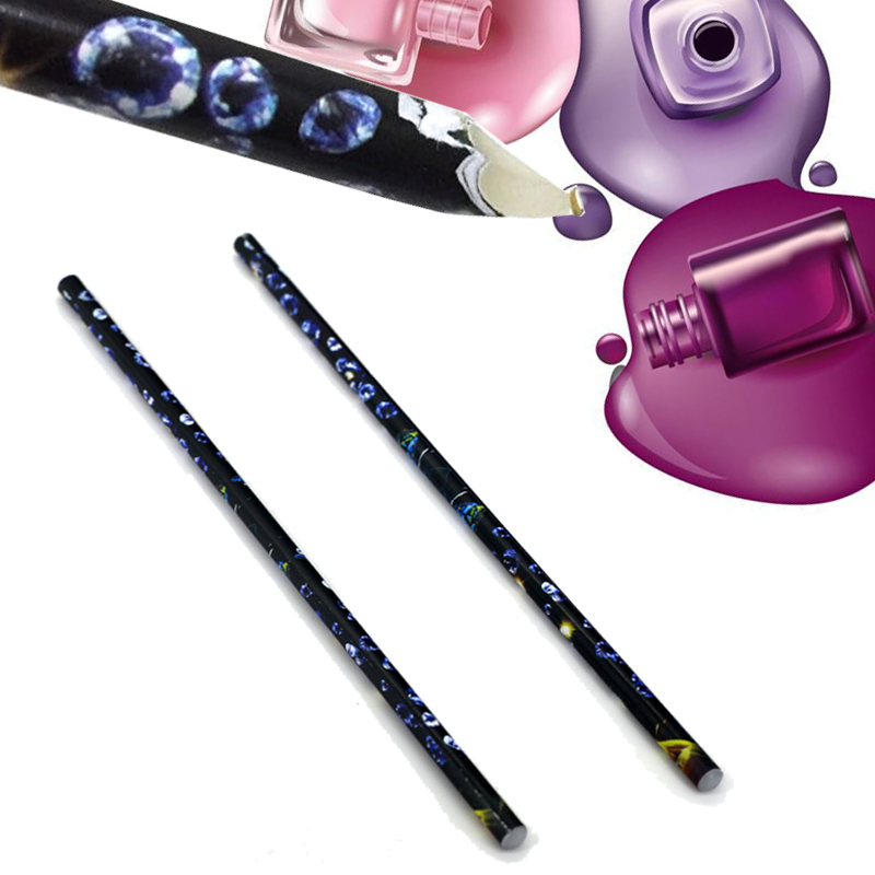 10Pcs Rhinestone Picker Wax Pencil Nail Crayons Point Art Dotting Paste Stick Pen