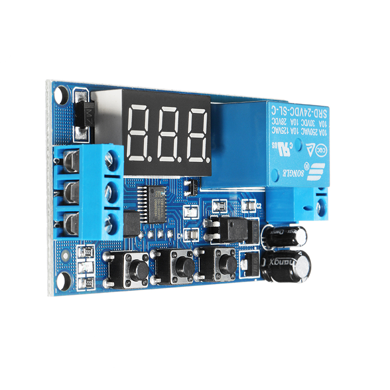 24V Adjustable Pulse Trigger Delay Cycle Timer Delay Switch Relay Control Module
