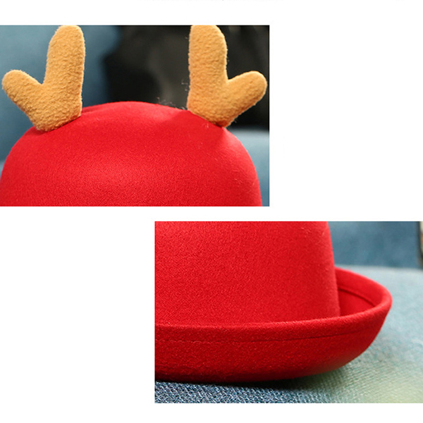 Children Kids Elk Christmas Fur Bucket Hats