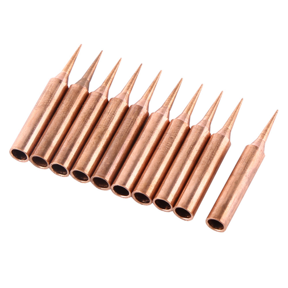 10pcs 900M-T Pure Copper Iron Tips Soldering Tips For H