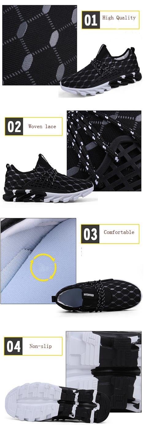 Mens Sport Soft Summer Running Rubber Fashion Breathable Thick Bottom Athletic Shoes