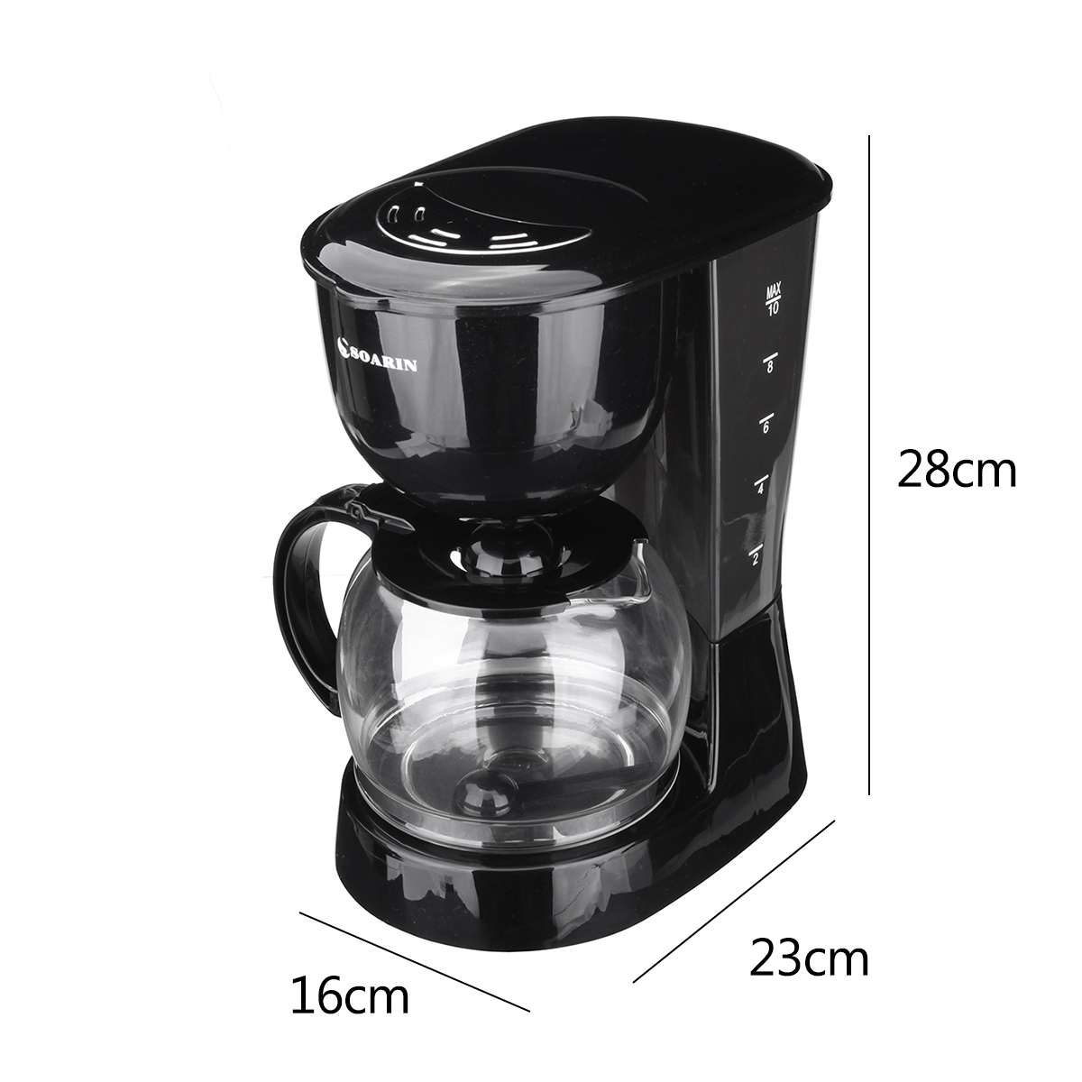Soarin 1.25L 800W Electric Coffee Tea Maker Espresso Latte Machine Home Office Cafe Coffee Machine