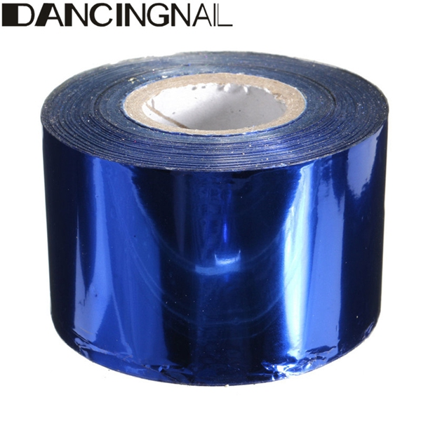 1 Roll 4CM X 110M Starry Red Royalblue Green Champagne Nail Transfer Foil Sticker Manicure Decoration