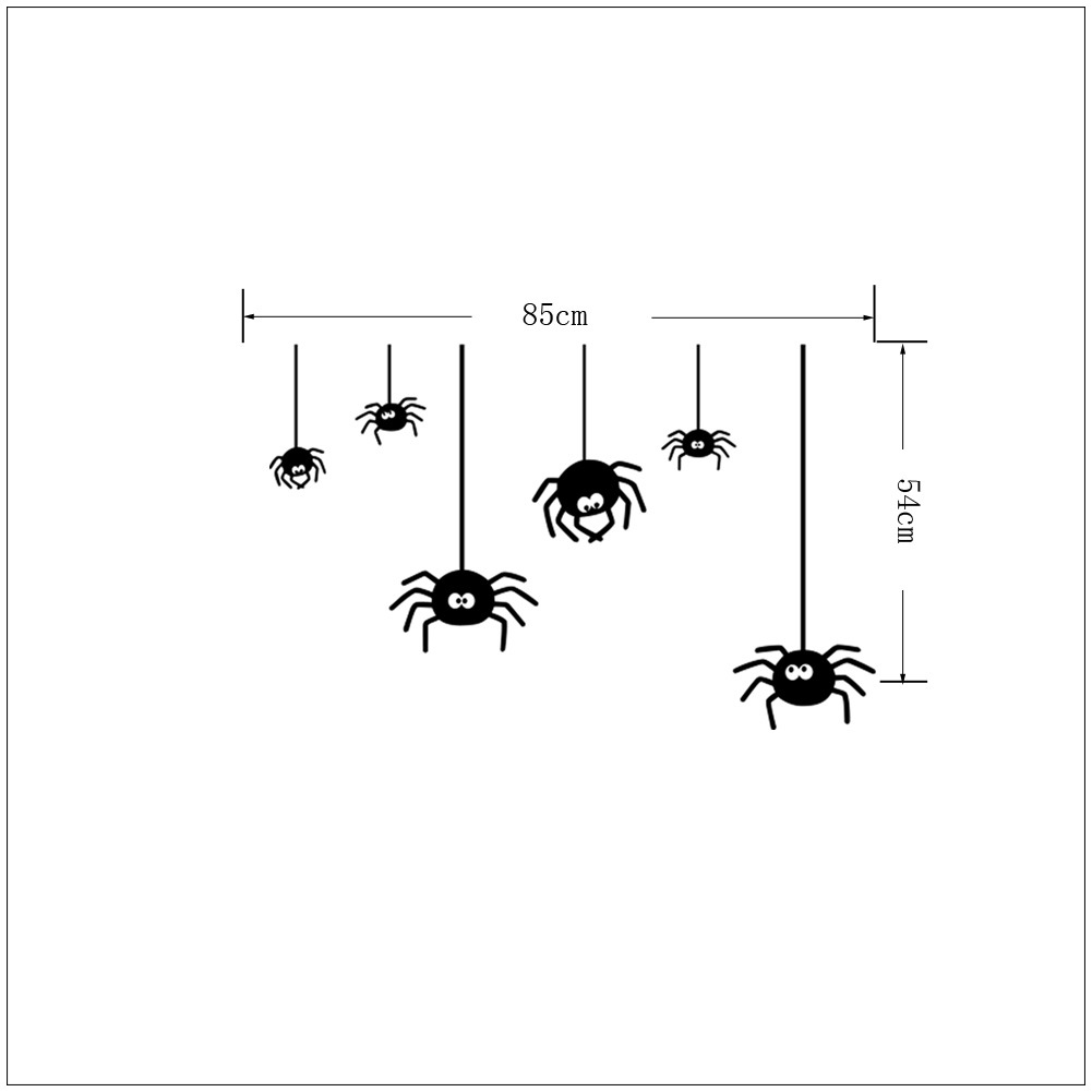 Halloween Spider Wall Stickers Spider Removable Wallpapers Vinyl Art Decal Decor Waterproof Stickers Household Home Wall Sticker Poster Mural Decoration for Bedroom Living Room