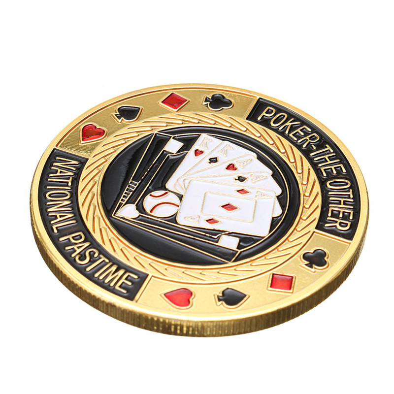 Metal Poker Guard Card Protector Coin Chip Gold Plated