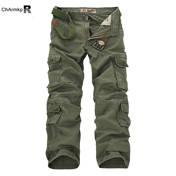 Outdooors Loose Large Size Cotton Multi Pockets Cargo Pants