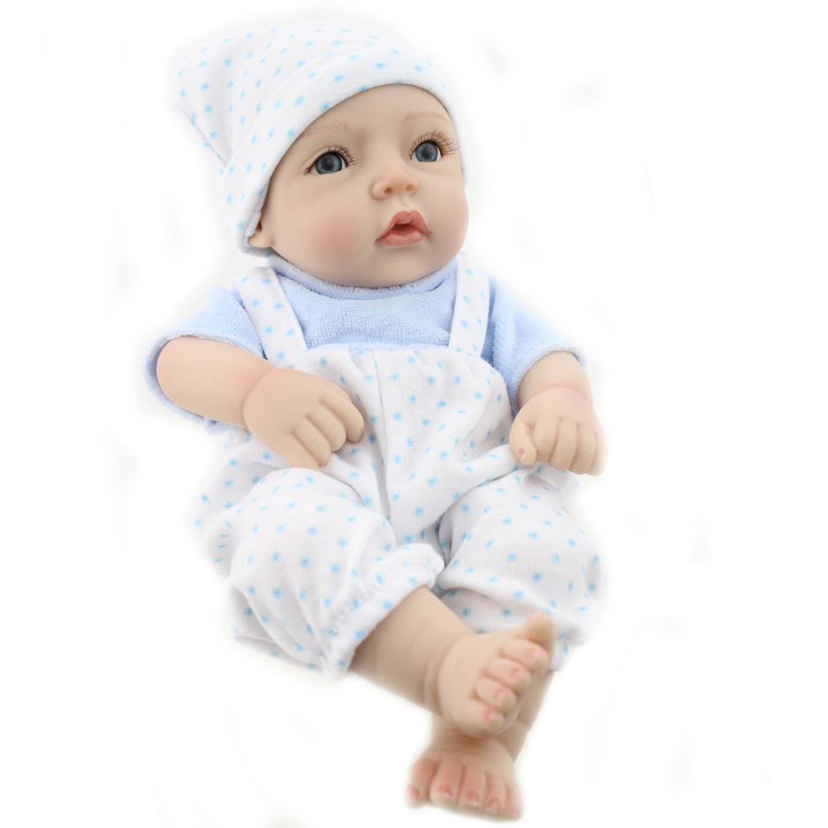 11inch Handmade Reborn Baby Doll Lifelike Realistic Newborn Boy Toy Play House Toys