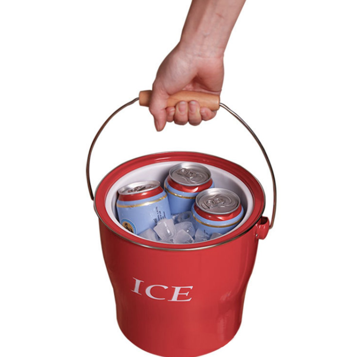 Double Wall 4L Ice Bucket Spit Barrel Container KTV Club Bar Tools Ice Container With Scoop & Lid