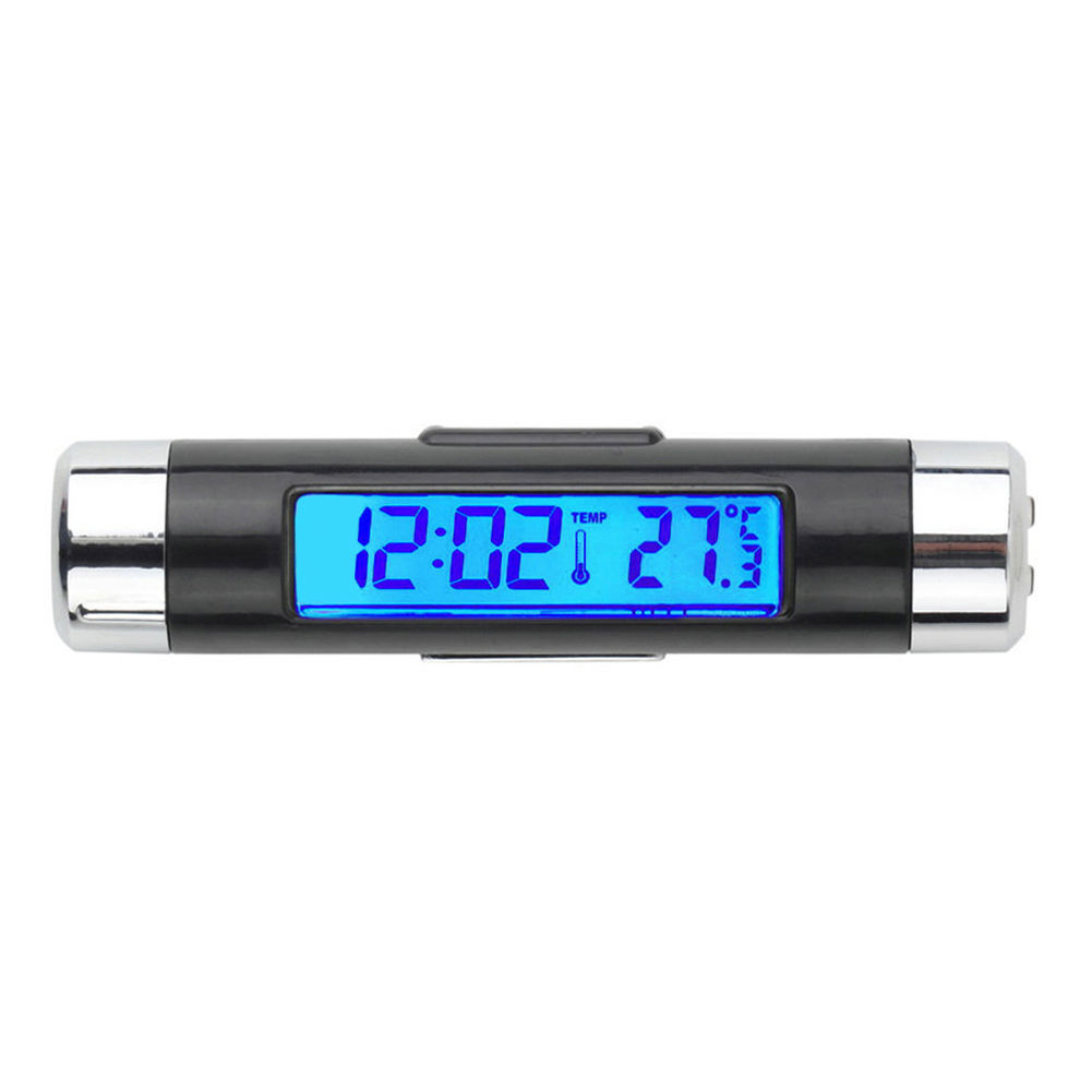 Car LCD Digital backlight Automotive Thermometer Clock Calendar Accessories
