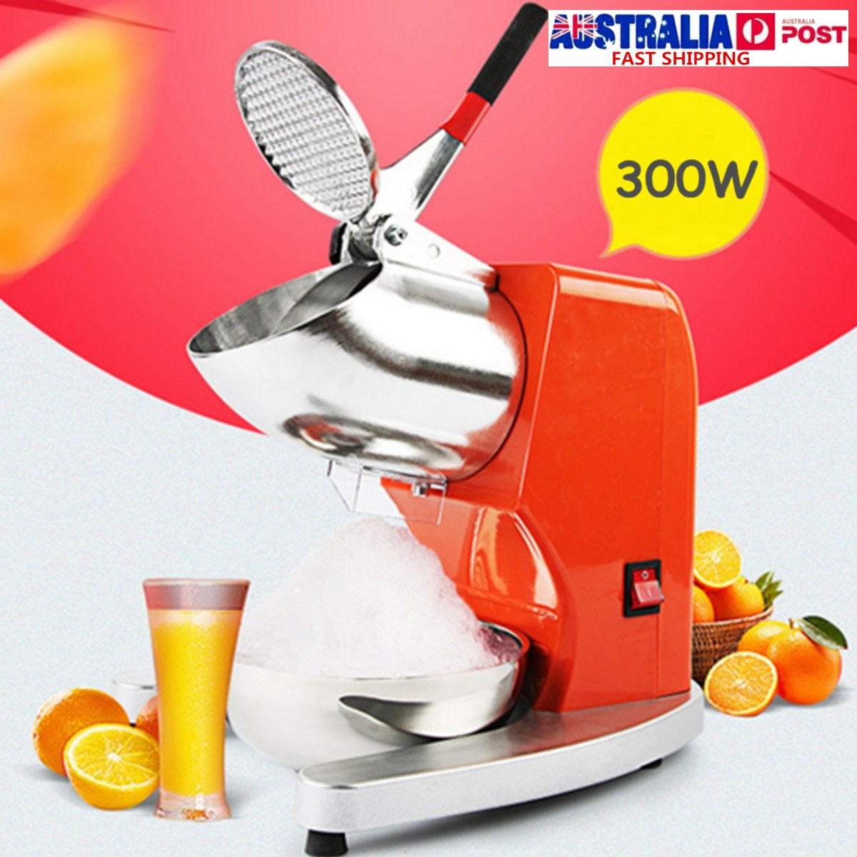 220V 380W Electric Ice Crusher Ice Shaver Machine Snow Cone Maker Shaved Ice Machine Ice Tools