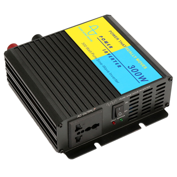 300W Pure Sine Wave Power Inverter Charger Adapter 12V DC to 220V AC