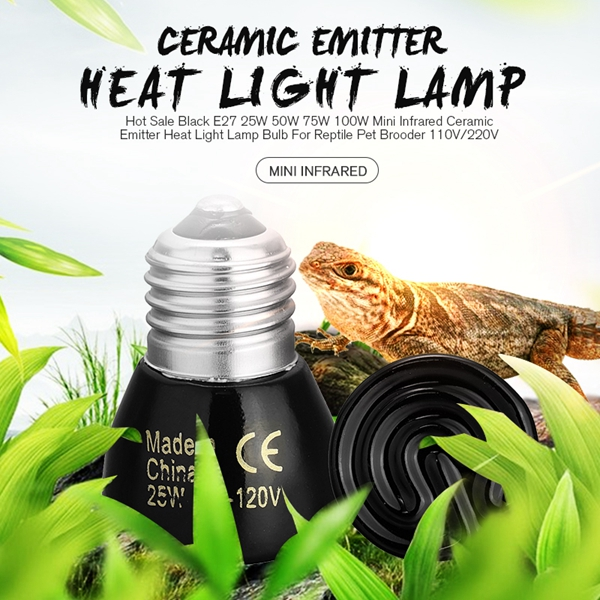 25W/50W/75W/100W Pet Reptile Far Infrared Ceramic Emitter heat lamp Bulb For Reptile Pet Brooder