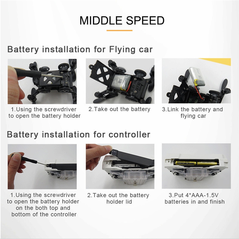 Flytec SBEGO 132W 2.4G 4CH Mini Pocket FPV Wifi Flying Racing RC Car 360 Degree Quadcopter Drone