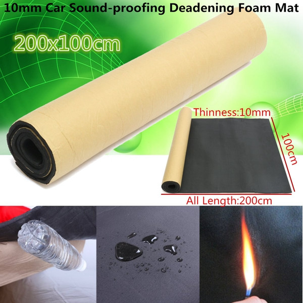 200cmx100cm 10mm Car Sound Proofing Deadening Heat Insulation Closed Cell Foam