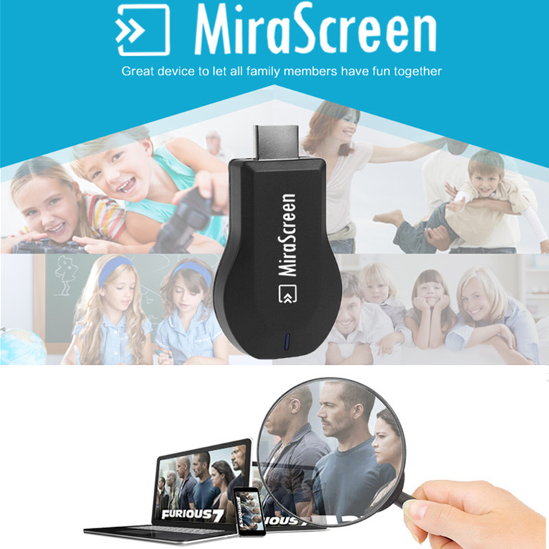 MiraScreen Miracast Dongle DLNA Airplay Support IOS 9 Android OTA WiFi Display Receiver Dongle HD 1080P