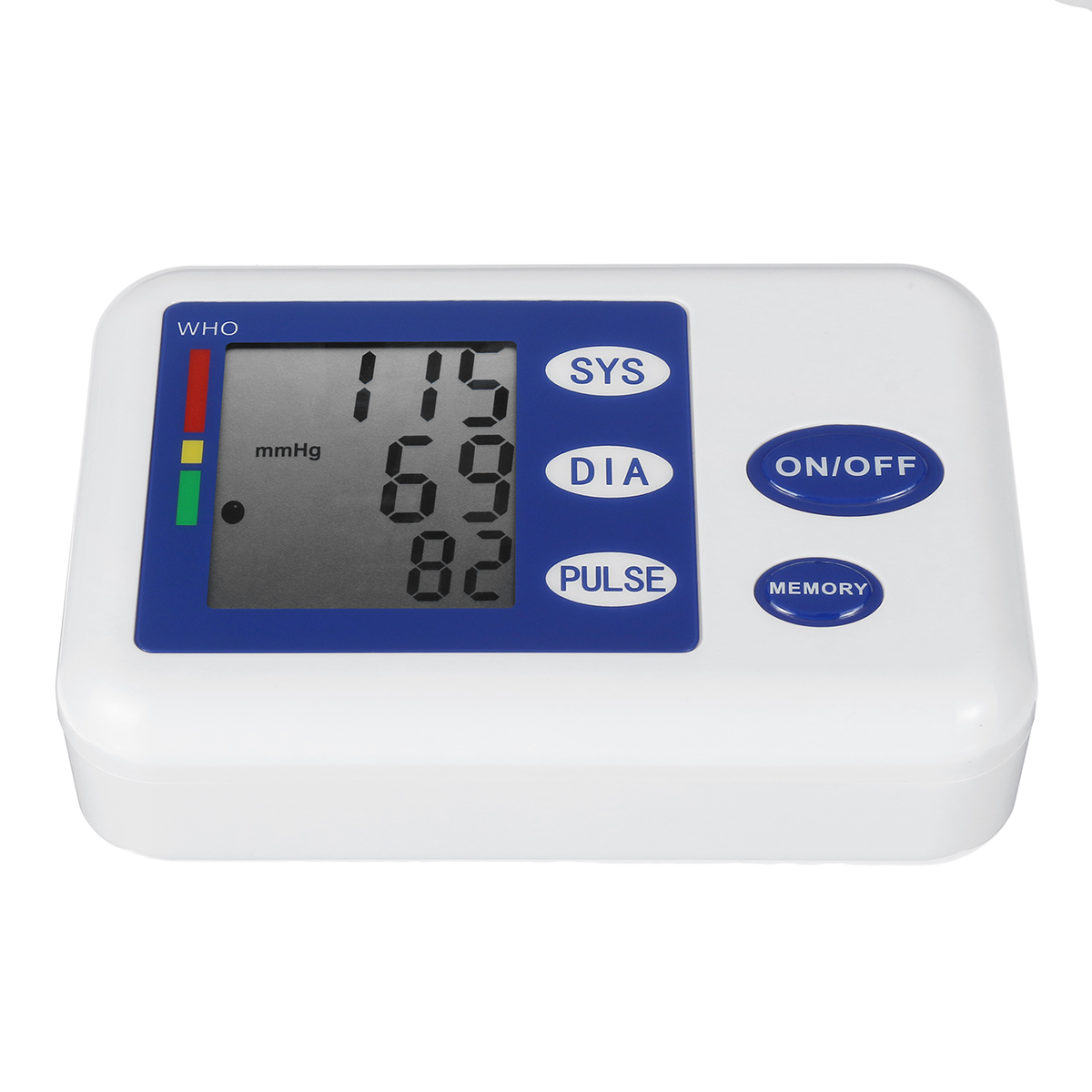 Protable Home LCD Electronic Digital Memory Arm Smart Blood Pressure Monitor&Heart Beat Meter