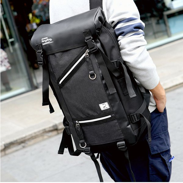 Men Large Capacity Travel Backpack Laptop Bag 35L Hiking Camping Bag Waterproof Backpack