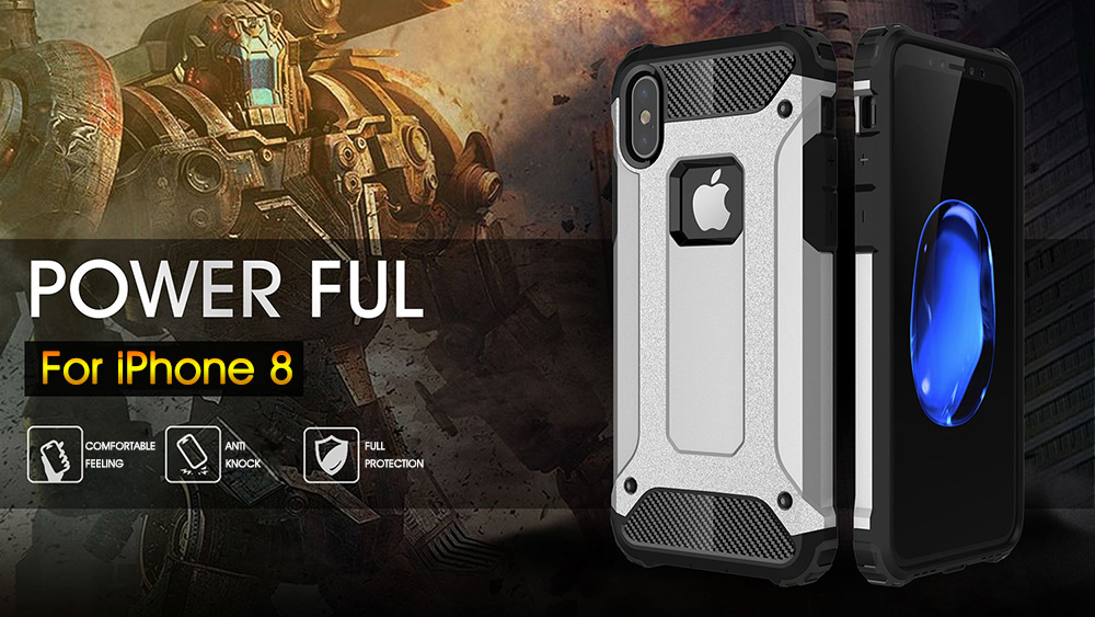 Armor Shockproof PC+TPU Double Protection Back Case For iPhone X
