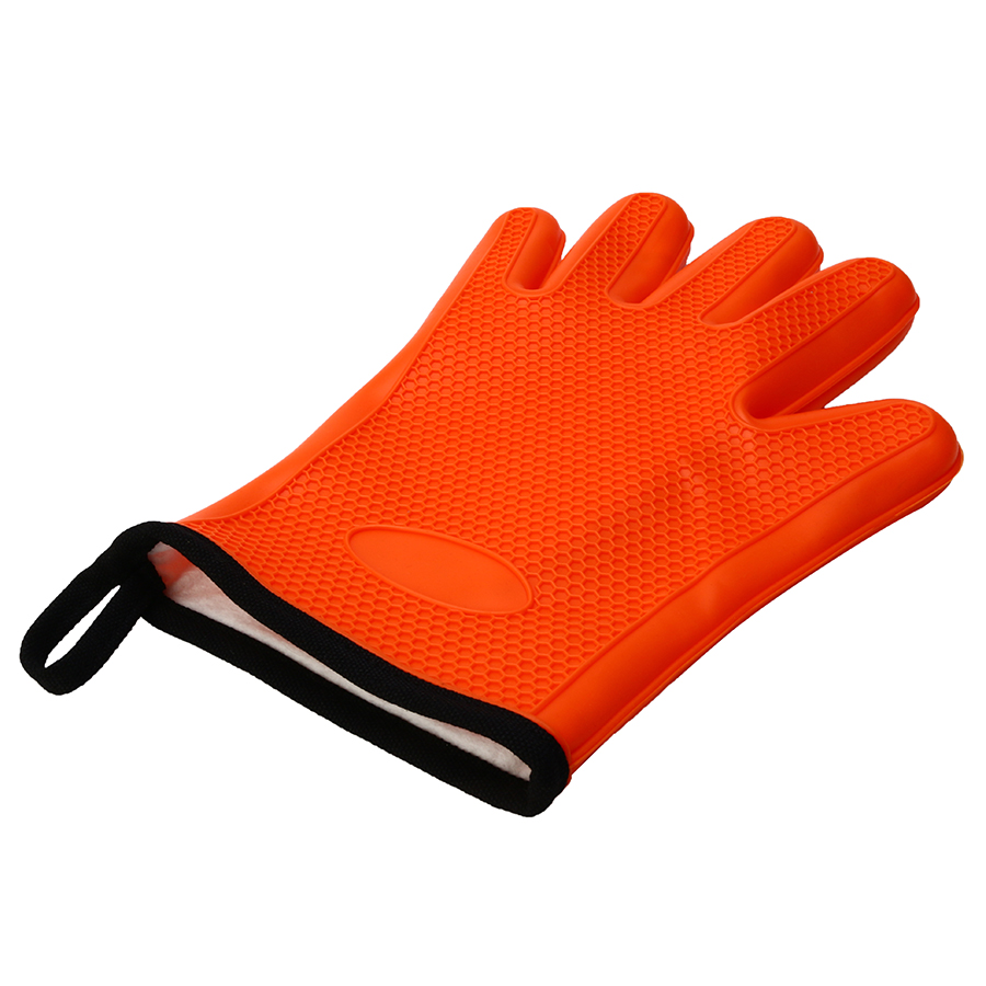 KCASA KC-PG08 1Pc Silicone Cotton Microwave Oven BBQ Oven Mitt Heat Resistant Pot Holder Gloves