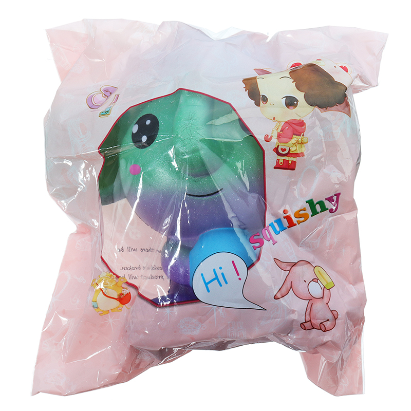 Squishy Jumbo Elephant Galaxy Color Toy Slow Rising Soft Animal Collection Gift Original Packaging